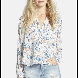 ASTR the Label  Print High/Low Shirt